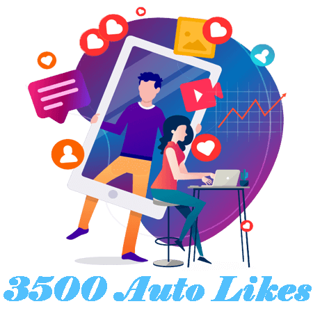 3500 Automatic Instagram Likes